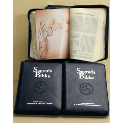 Sagrada Biblia. Versión oficial de la CEE (Ed. popular - estuche símil piel cremallera)