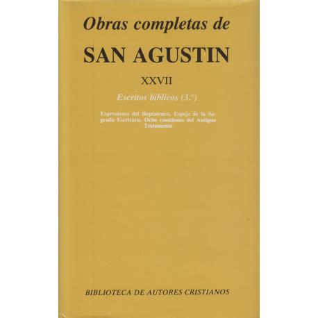 Obras completas de San Agustín. XXVII: Escritos bíblicos (3.º)