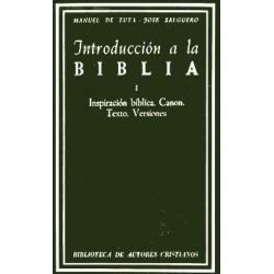 Introducción a la Biblia. I: Inspiración bíblica. Canon. Texto. Versiones